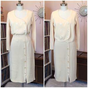 Vintage Apart Knit Two Piece Skirt Set